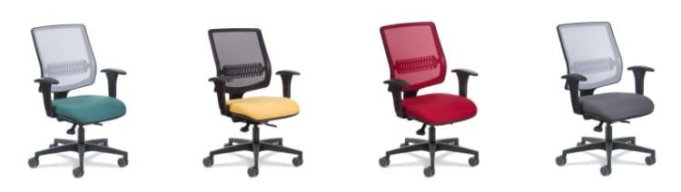 Cadeiras Uni coloridas do e-commerce da Flexform